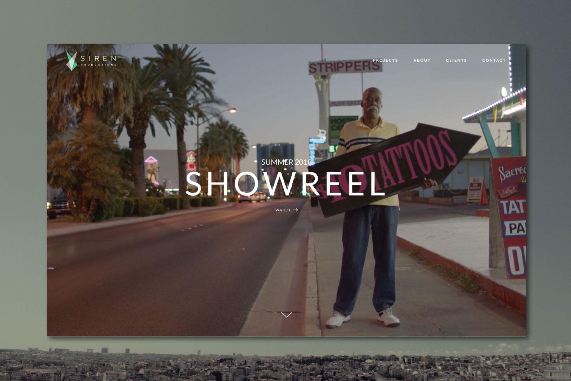 Siren Productions Website
